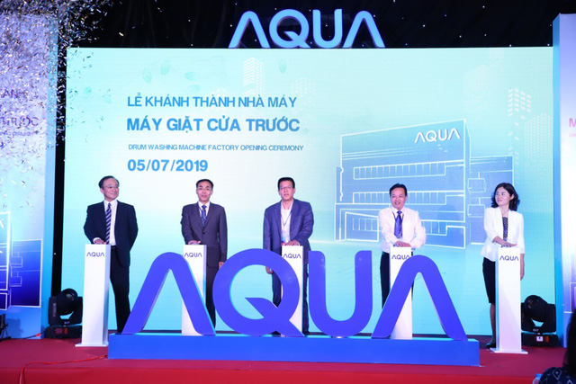 AQUA Vietnam officially inaugurated the front door washing machine factory - Photo 2.