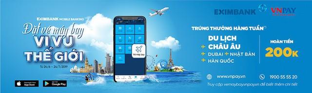 Đặt vé máy bay – Vi vu thế giới cùng Eximbank - Ảnh 1.