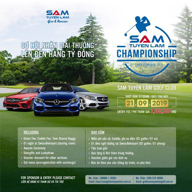 Giải golf SAM Tuyền Lâm Championship 2019 chính thức khởi tranh tại Đà Lạt vào ngày 21 tháng 09 - Ảnh 2.