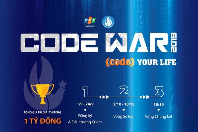"""Lập team """"code dạo"""" giật giải nghìn USD cùng Code War - Ảnh 1."""