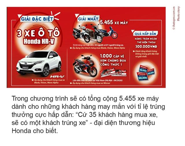 3.919 khách hàng đã may mắn trúng thưởng xe Honda trong hơn 1 tháng - Ảnh 1.