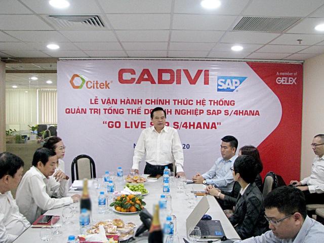 CADIVI chính thức vận hành hệ thống quản trị doanh nghiệp SAP S/4HANA - Ảnh 1.