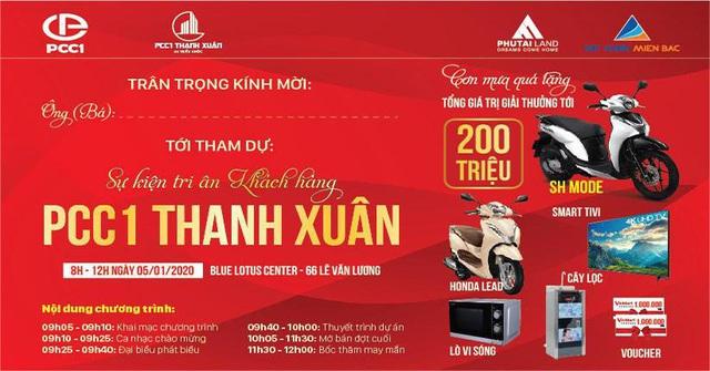 Chủ đầu tư tri ân khách hàng dự án PCC1 Thanh Xuân - Ảnh 1.