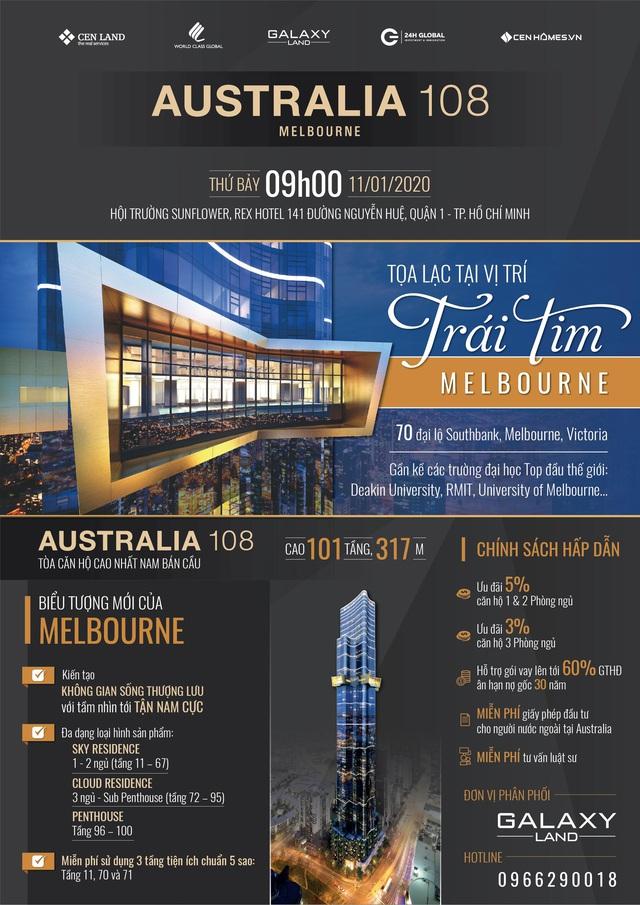 Cơ hội đầu tư tại tòa căn hộ cao nhất Nam Bán Cầu – Australia 108 - Ảnh 1.