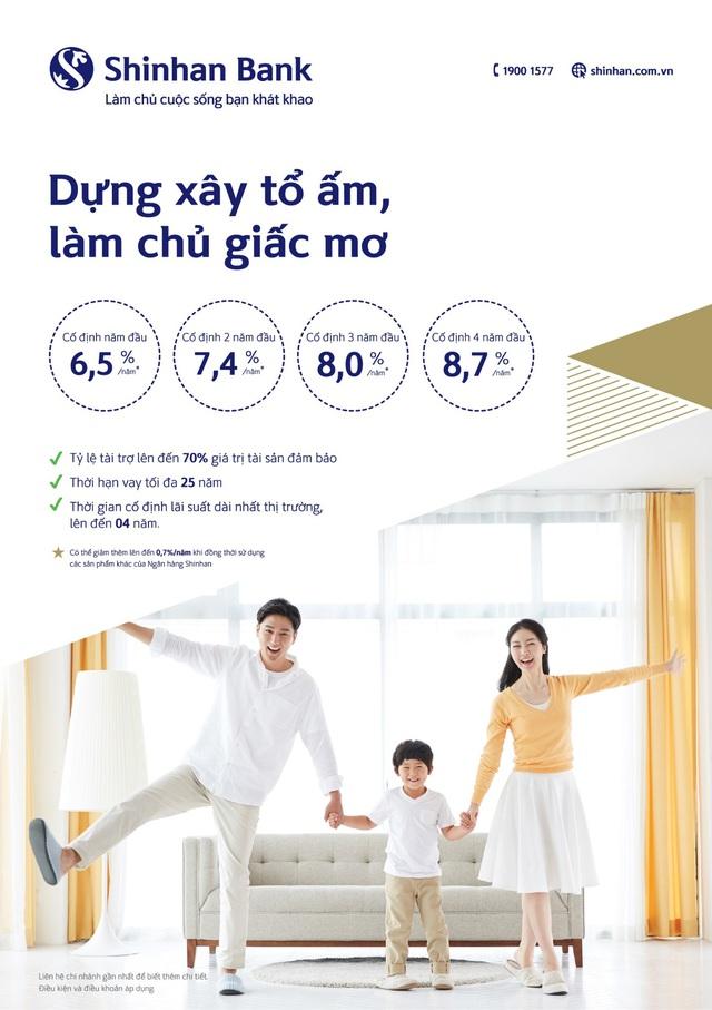 Sở hữu nhà và xe ô tô với lãi suất cực thấp từ Ngân hàng Shinhan - Ảnh 1.