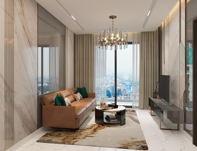 Diện tích lớn, căn hộ 3 phòng ngủ của Opal Skyline mang đến không gian sinh hoạt chung thoáng đạt và rộng rãi.