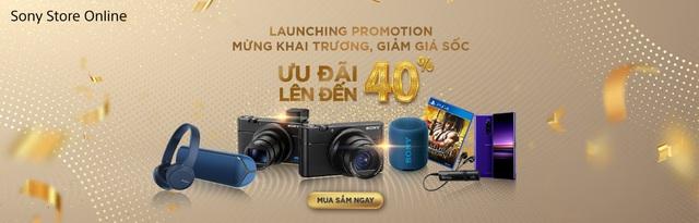 Sony ra mắt cửa hàng trực tuyến chính hãng đầu tiên tại Việt Nam với chương trình ưu đãi lên đến 40% - Ảnh 1.