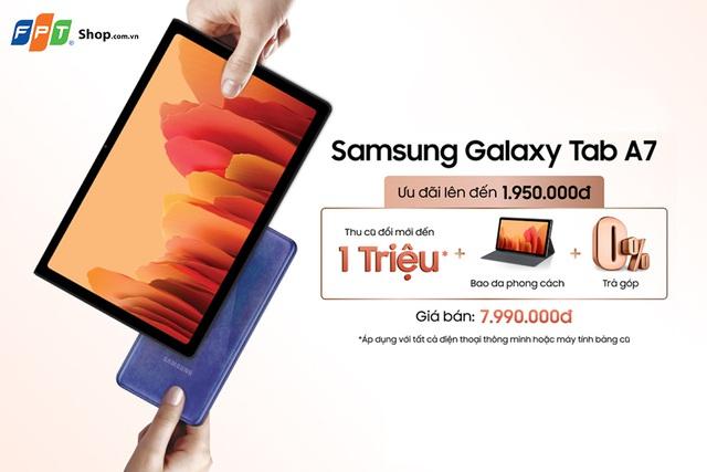FPT Shop tặng quà đến 1,95 triệu cho khách mua Galaxy Tab A7 - Ảnh 1.