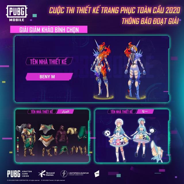 """PUBG Mobile công bố chủ nhân giải thưởng $5000 của cuộc thi """"Thiết kế trang phục toàn cầu"""" - Ảnh 5."""