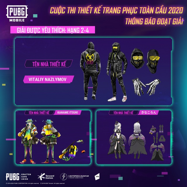 """PUBG Mobile công bố chủ nhân giải thưởng $5000 của cuộc thi """"Thiết kế trang phục toàn cầu"""" - Ảnh 6."""