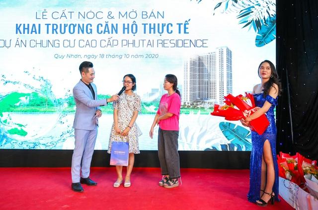 Phu Tai Residence trao tặng vàng SJC và xe SH 150i mừng lễ cất nóc - Ảnh 2.