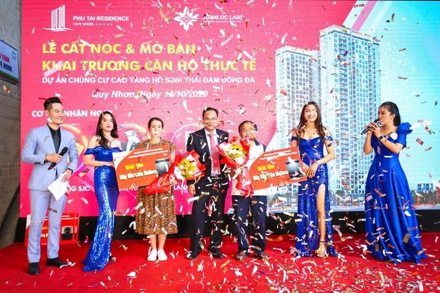 Phu Tai Residence trao tặng vàng SJC và xe SH 150i mừng lễ cất nóc - Ảnh 3.