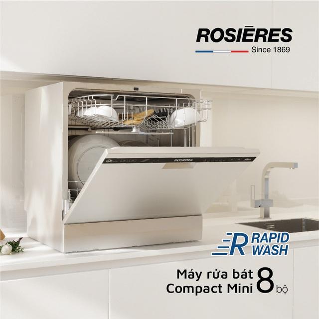 Rosieres ứng dụng công nghệ RapidWash vào sản xuất máy rửa bát - Ảnh 1.