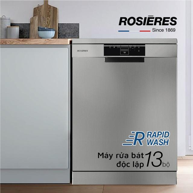 Rosieres ứng dụng công nghệ RapidWash vào sản xuất máy rửa bát - Ảnh 2.