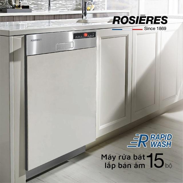 Rosieres ứng dụng công nghệ RapidWash vào sản xuất máy rửa bát - Ảnh 3.