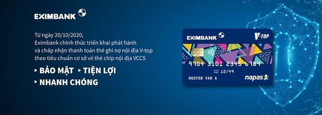 Eximbank phát hành thẻ ghi nợ nội địa Chip VCCS - Ảnh 1.