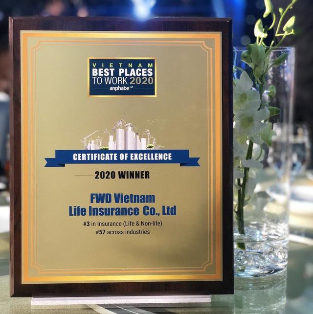 FWD: Top 3 nơi làm việc tốt nhất ngành bảo hiểm - Ảnh 2.