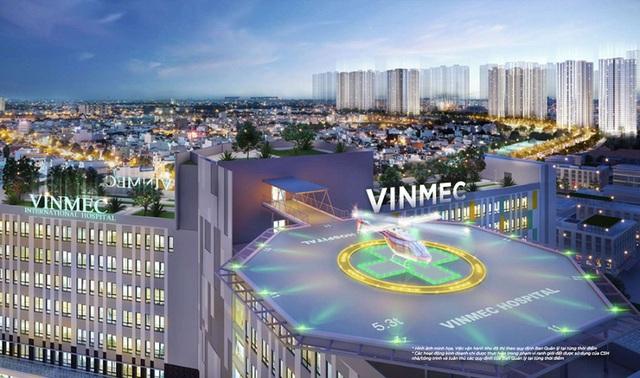 Với diện tích lên tới 3ha, 9 tầng nổi, 350 giường bệnh, bệnh viện đa khoa quốc tế Vinmec tại Vinhomes Smart City sở hữu quy mô lớn bậc nhất trong toàn hệ thống