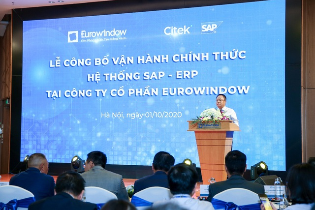 Ông Nguyễn Cảnh Hồng – Tổng giám đốc Eurowindow phát biểu tuyên bố vận hành hệ thống