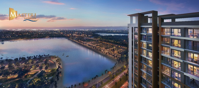 """Tầm nhìn """"triệu đô"""" hướng trực diện ra biển hồ của Masteri Waterfront"""