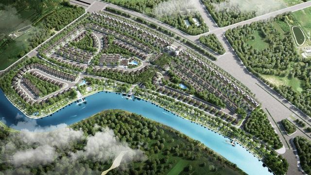 Phối cảnh khu biệt thự phân khu 1.1 - Zeit River County 1 thuộc khu đô thị Zeitgeist. Ảnh: VGSI.