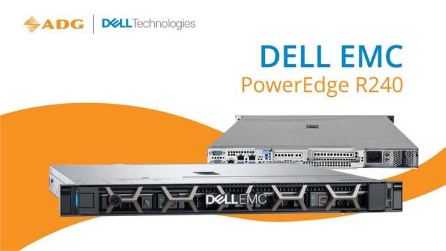 Dell EMC PowerEdge R240 - Máy chủ 1U dạng Rack được thiết kế cho các doanh nghiệp vừa và nhỏ với ngân sách tối ưu nhất - Ảnh 1.