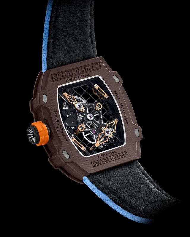 RM 27-04 Tourbillon: Mẫu đồng hồ kỷ niệm 10 năm hợp tác giữa Richard Mille và Rafael Nadal - Ảnh 3.