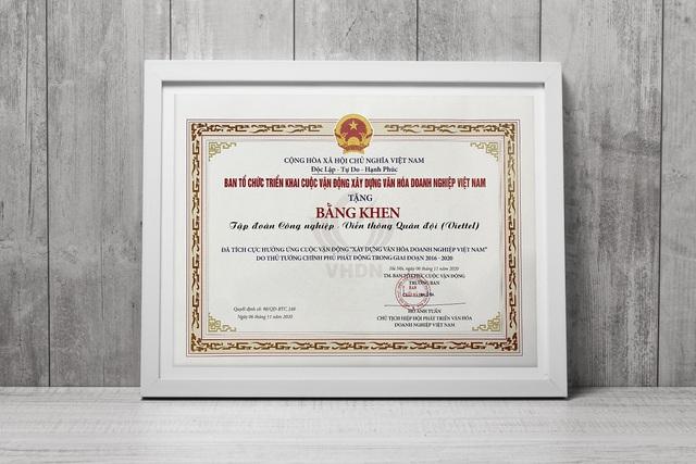 Viettel được vinh danh là doanh nghiệp có thành tích xuất sắc trong xây dựng và thực hành văn hóa doanh nghiệp - Ảnh 2.