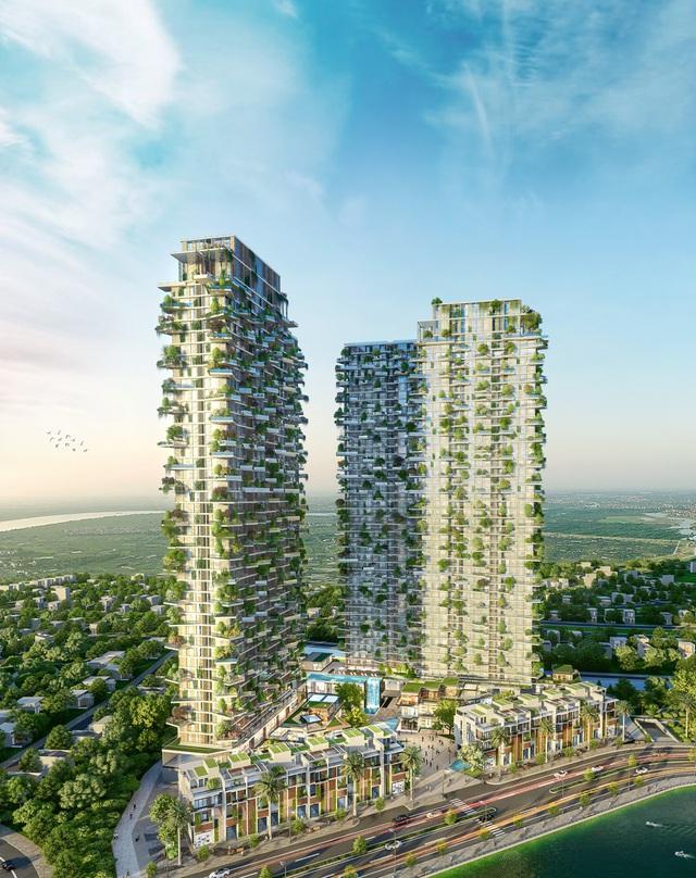 Tạp chí danh tiếng của Mỹ dành vị trí nổi bật trang chủ viết về toà tháp xanh biểu tượng của Ecopark - Ảnh 3.