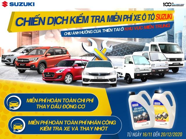 Đồng hành cùng miền Trung, Suzuki kiểm tra xe và thay dầu động cơ miễn phí - Ảnh 1.