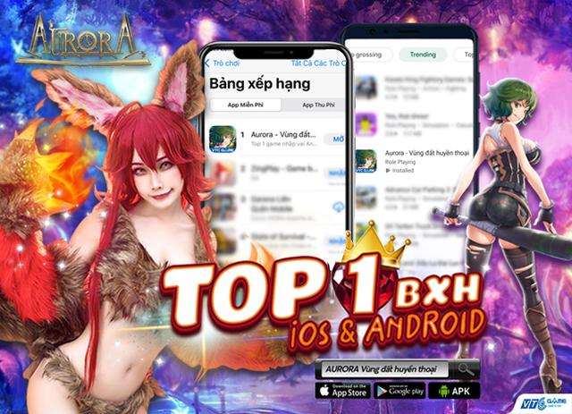 """Càn quét BXH Top 1 Free Game iOS, Top trending Android, sức công phá mạnh thế này bảo sao """"Aurora - Vùng đất huyền thoại"""" quá tải chỉ sau 1 giờ mở cửa - Ảnh 1."""