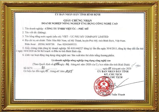 Tập đoàn Việt – Úc đạt nhiều chứng nhận khi ứng dụng công nghệ cao vào ngành tôm - Ảnh 2.