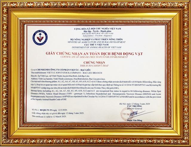 Tập đoàn Việt – Úc đạt nhiều chứng nhận khi ứng dụng công nghệ cao vào ngành tôm - Ảnh 1.