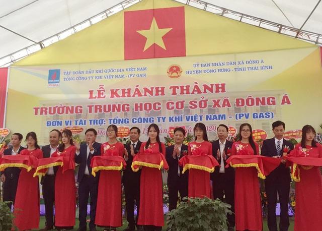 PV GAS tài trợ xây dựng Trường THCS Đông Á, Thái Bình - Ảnh 1.