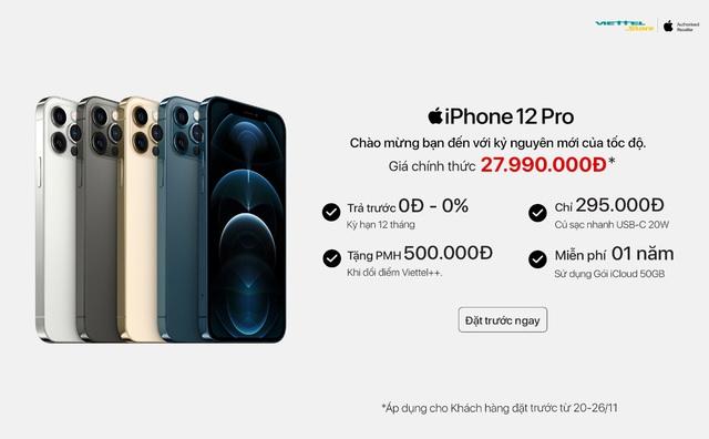 Đặt cọc iPhone 12 Series: Viettel Store chính thức ưu đãi độc quyền 50GB iCloud miễn phí 1 năm - ảnh 1
