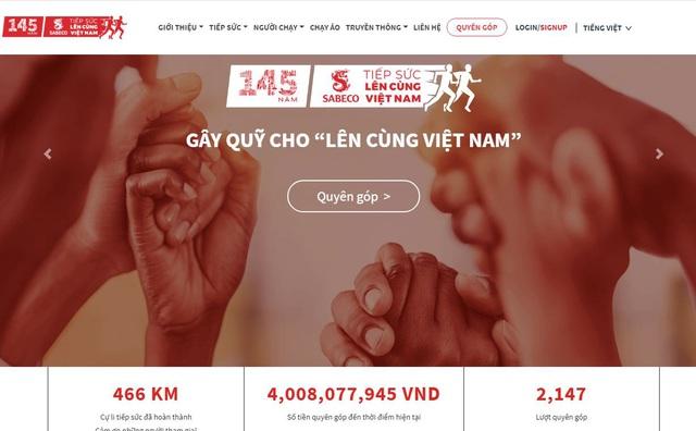 """Những dấu mốc ấn tượng của hành trình chạy tiếp sức """"Lên cùng Việt Nam"""" - Ảnh 1."""