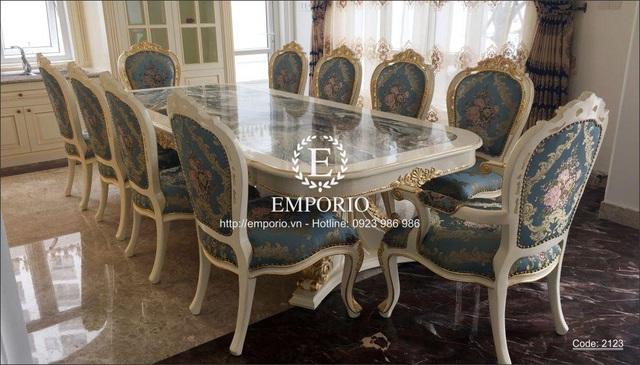 Khẳng định phong cách sang trọng với bàn ăn cổ điển tại nội thất Emporio - Ảnh 2.