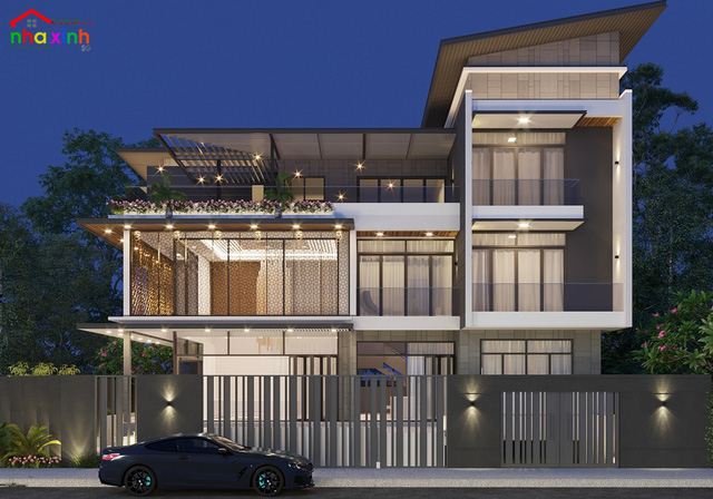 Những mẫu thiết kế biệt thự hiện đại đẹp 2021 - Ảnh 1.