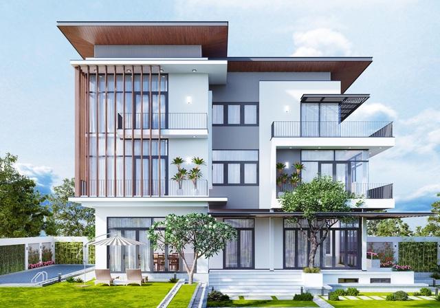 Những mẫu thiết kế biệt thự hiện đại đẹp 2021 - Ảnh 2.