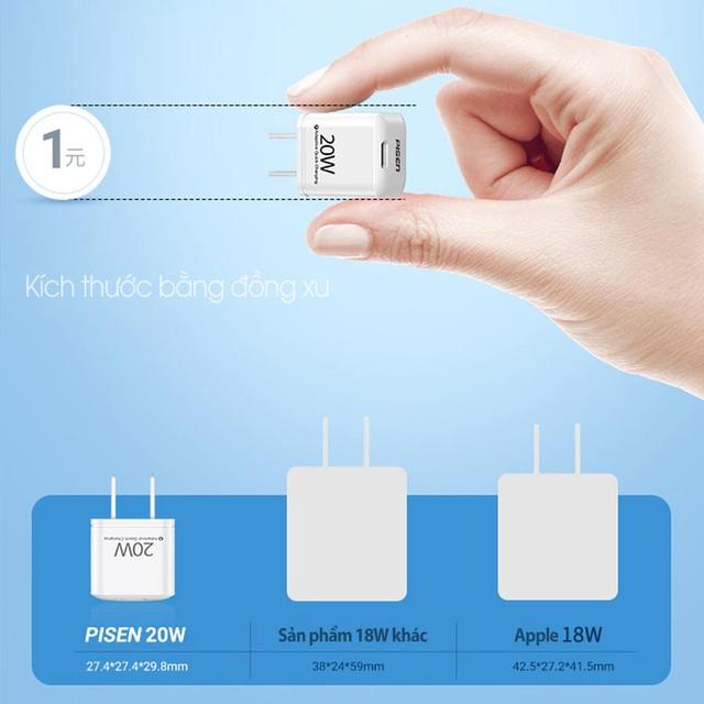 Pisen Quick Teeny 20W - siêu nhỏ dành cho Iphone 12 - Ảnh 1.