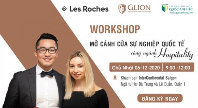 """Workshop """"Mở cánh cửa sự nghiệp quốc tế cùng ngành Hospitality"""" - ảnh 1"""