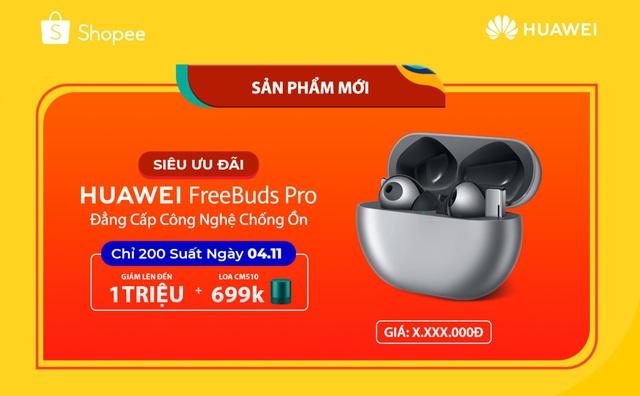 """Huawei Free Buds Pro: Đỉnh cao thiết bị âm thanh với công nghệ chống ồn """"xịn sò"""" - Ảnh 1."""