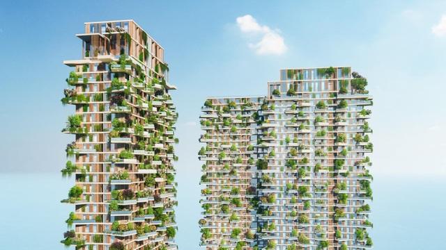 400 khu vườn trên cao tại toà tháp biểu tượng của Ecopark - Ảnh 1.