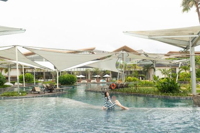 Diễn viên Lan Ngọc tìm đến Minera Hot Springs Bình Châu để tận hưởng và thư giãn - Ảnh 2.