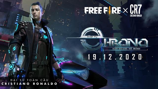 Cristiano Ronaldo trở thành Đại sứ toàn cầu của Free Fire, nhân vật huyền thoại Chrono chuẩn bị ra mắt - Ảnh 1.