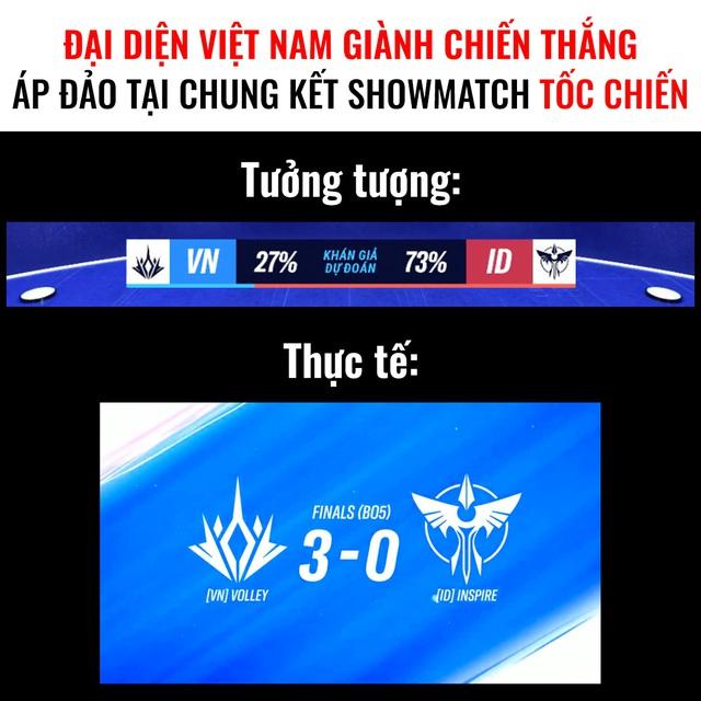 Trong trận chung kết, rất ít khán giả nghĩ đội Việt Nam có thể áp đảo đến thế!