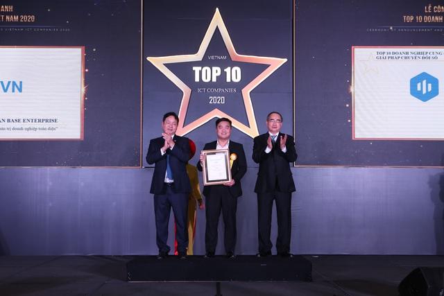 Base.vn nhận cú đúp giải thưởng Chuyển Đổi Số tại Top 10 Doanh nghiệp CNTT 2020 - Ảnh 1.