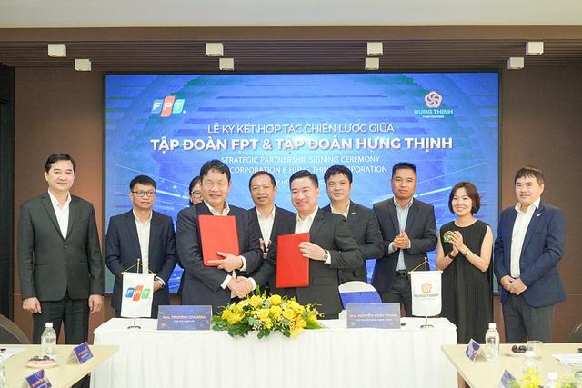 Tập đoàn Hưng Thịnh ký kết hợp tác chiến lược cùng Tập đoàn FPT - Ảnh 1.
