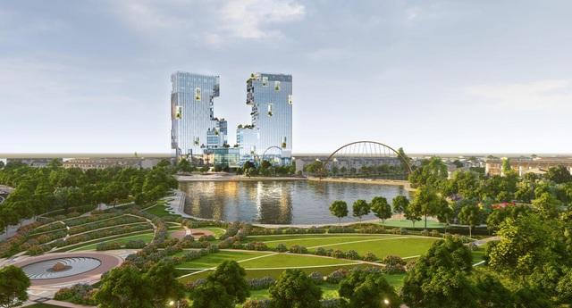 Ecopark Hải Dương triển khai tháp đôi cao bậc nhất Hải Dương - Ảnh 2.