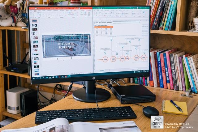 Đánh giá HP Prodesk 400 G6 Desktop Mini: cỗ máy văn phòng nhỏ gọn đầy linh hoạt - Ảnh 3.